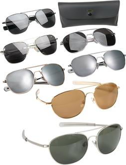 58MM Aviator Military Air Force Pilot Sunglasses Lenses with