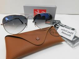 58mm Ray-Ban aviator new sunglasses women & men blue gradien