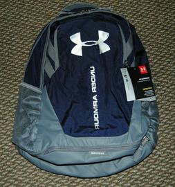 Under Armour Hustle 3.0 Backpack, Midnight Navy /Silver, One