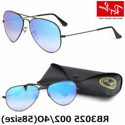 AUTHENTIC RAY BAN AVIATOR RB3025 002/4O 58MM BLUE MIRROR LEN