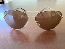 Authentic New Gucci Aviator Sunglasses Gold Frame Brown Lens