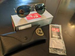 Authentic Ray-Ban Aviator 3025 Gold Frame Green Polarized RB