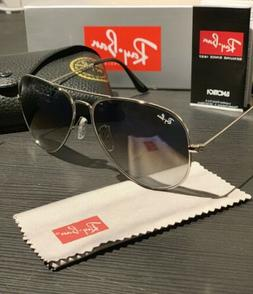RayBan Aviator Classic Large Size 62mm SILVER/BLUE GRADIENT