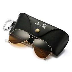 Pro Acme Aviator Large Metal Sunglasses, 58mm