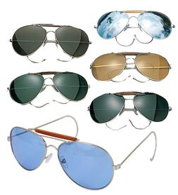 Aviator Military Style Sunglasses Air Force Pilot Fashion Ey