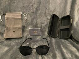 LUENX Aviator Polarized Sunglasses for Men & Women Black NWT