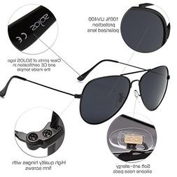 Aviator Polarized Sunglasses Mirrored UV400 Lens SOJOS Class