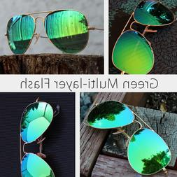 Ray ban aviator sunglasses for men and women 58mm green mirr