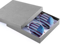 Aviator Sunglasses Gold American Flag GIft Box party favors