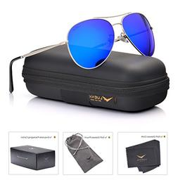 LUENX Aviator Sunglasses Men Women Mirror Polarized UV400 Me