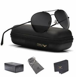 LUENX Aviator Sunglasses Men Women Non-Mirror Polarized UV40