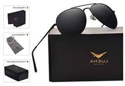 LUENX Aviator Sunglasses Men Women Polarized with Case - UV
