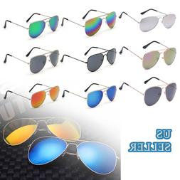 Aviator Sunglasses Men Women Vintage Mirror Lens New Fashion