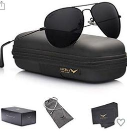 Luenx Aviator Sunglasses Mens Women 60mm with Case - UV400