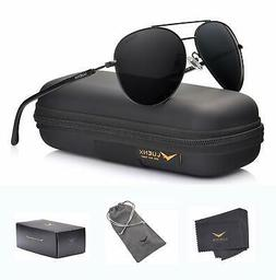 Luenx Aviator Sunglasses Polarized Case Uv 400 Men Women 60m