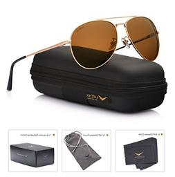LUENX Aviator Sunglasses Polarized Men Women with Accessorie