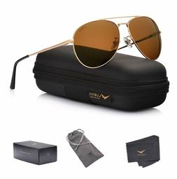 LUENX Aviator Sunglasses Polarized - UV 400 Protection with
