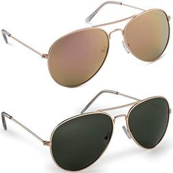 Aviator UV400 Polarized Gold frame with G15 lens and Polariz