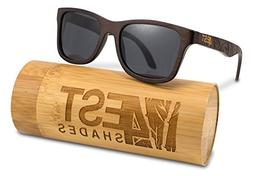 Bamboo Wood Sunglasses -Polarized handmade wooden shades in