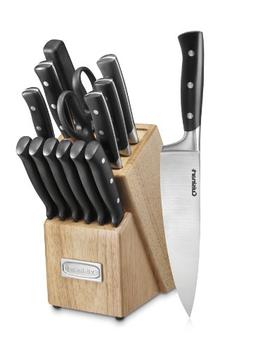 Cuisinart Black Knife Block Set, 15 Pieces - 15-piece set -