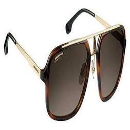 Carrera Men's Ca1004s Aviator Sunglasses, Havana Gold/Brown