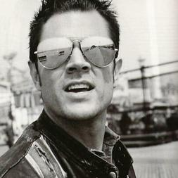 Celebrity Johnny Knoxville Jackass Mirrored Lens Metal Aviat