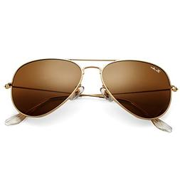 Pro Acme Classic Aviator Sunglasses for Men Women 100% Real