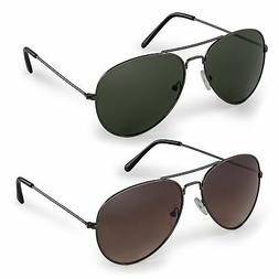 Stylle Classic Aviator Sunglasses with Protective Bag, 100%