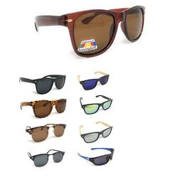 Classic Polarized Sunglasses Club Aviator Bamboo Sports Wrap