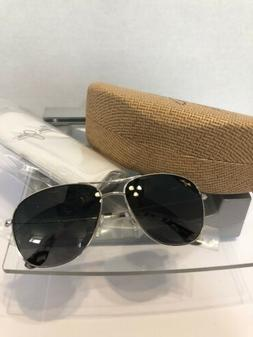 ☀️ Maui Jim Cliff House Silver Aviator Frame Polarized L