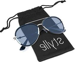 Double bridge Aviator gold black and white frame with grey l