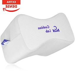 Cushion Lab Extra Dense Orthopedic Knee Pillow for Back Pain