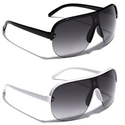 Flat Top Oversized Aviator Sunglasses Men's Women's Retro 80