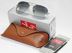 Geunine Ray Ban Aviator RB3025 003/32 all size Silver Frame
