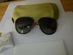 Gucci GG0062S 003 Grey Gradient Green/Red/Gold Aviator Metal