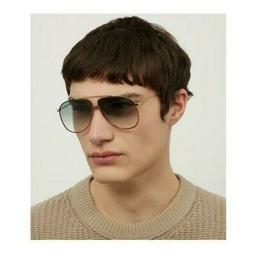 Gucci Men's Aviator Sunglasses in Green, Red and Gold