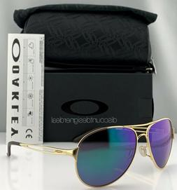 Oakley Caveat Aviator Sunglasses OO4054-15 Gold Metal Frame