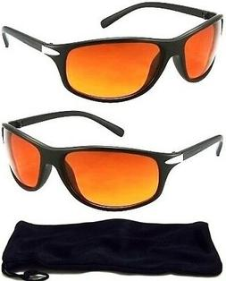 HD Driving Aviator SunGlasses Golf Vision Amber Blue Blocker