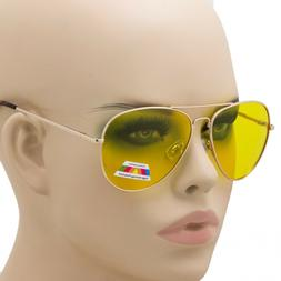 HD POLARIZED SUNGLASSES NIGHT DRIVING VISION YELLOW MEN WOME