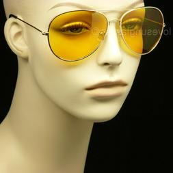HD sunglasses night driving vision safety shoot yellow aviat