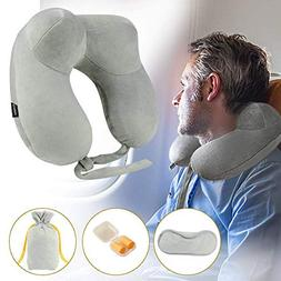 Travel Pillow Comfortable Inflatable U Shaped Neck Pillow Se
