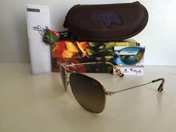 Maui Jim Cliff House B247-17 | Polarized Aviator Frame Sungl