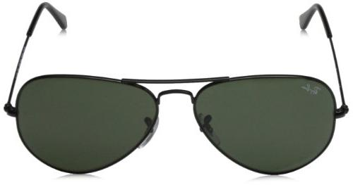 Ray-Ban menswomen's Aviator Metal, 3025 Black,