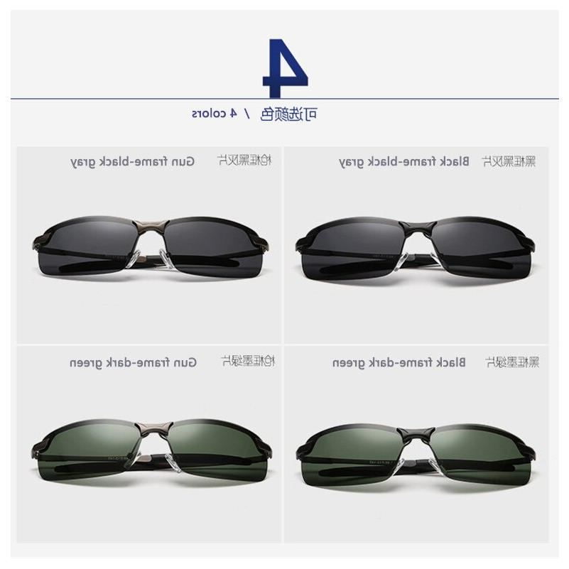 AORON Glasses Polarized Metail Frame Glasses Outdoor <font><b>Driving</b></font> for Accessories