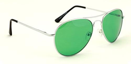 VW Eyewear Silver Aviator With Color Lens Sunglasses