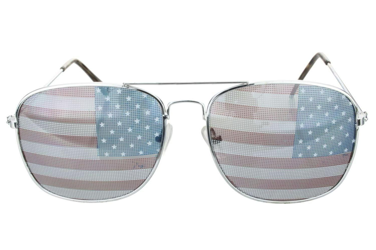 America USA Flag Aviator Sunglasses Patriotic United States