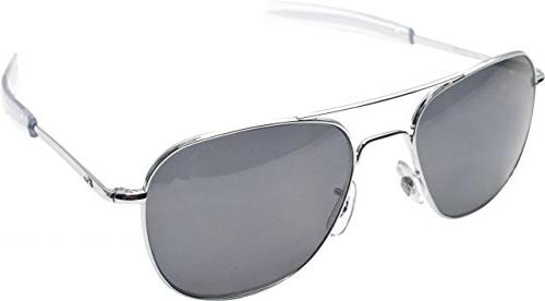 Silver Frame with Bayonet Temples and Gray Polarized