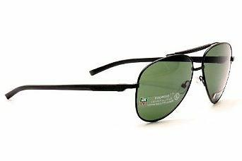 aviator automatic 0881 sunglasses black with green