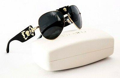0876cdc02ef3 VERSACE Aviator Gold Sunglasses VE 1002/87 by GAGA for VERSACE