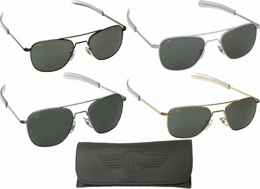 AO Eyewear Aviator Sunglasses Air Force Style Grey Lenses Wi
